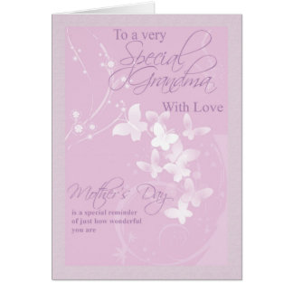 母の日カード、特別な祖母 グリーティングカード