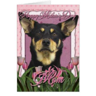 母の日-ピンクのチューリップ-オーストラリアのケルピージュード カード