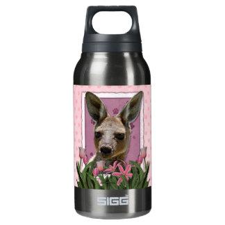 母の日-ピンクのチューリップ-カンガルー 断熱ウォーターボトル