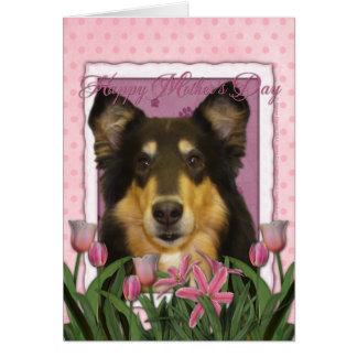 母の日-ピンクのチューリップ-コリー-キャロライン カード