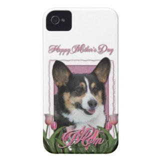 母の日-ピンクのチューリップ-コーギー-オーウェン Case-Mate iPhone 4 ケース