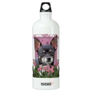 母の日-ピンクのチューリップ-チワワ-イザベラ SIGG トラベラー 1.0L ウォーターボトル