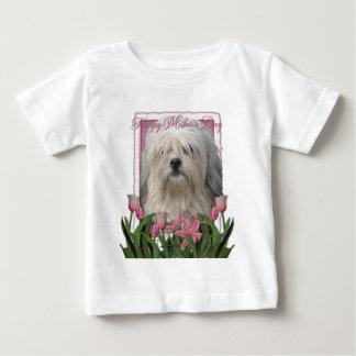 母の日-ピンクのチューリップ- Lowchen ベビーTシャツ