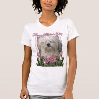 母の日-ピンクのチューリップ- Lowchen Tシャツ