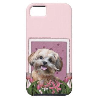 母の日-ピンクのチューリップ- ShihPoo - Maggie iPhone SE/5/5s ケース