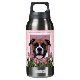 母の日-ピンクのチューリップ- Vindy -ボクサー 断熱ウォーターボトル