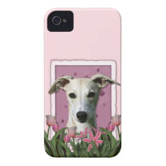 母の日-ピンクのチューリップ- Whippet Case-Mate iPhone 4 ケース