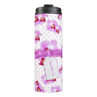 母の日- l紫色の蘭の花の写真 タンブラー