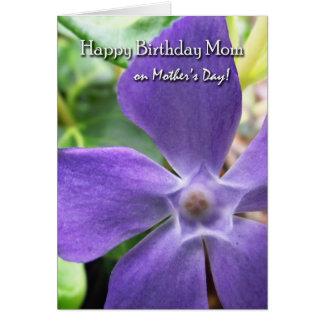 母の日、Vincaの開花のお母さんのための誕生日 カード