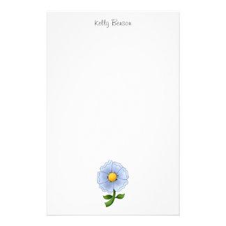 母の花 · 青い花 便箋