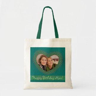 母の誕生日によって飾られるハートの写真フレームのバッグ トートバッグ