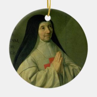 母キャサリンアグネスArnauld (1593-1年のポートレート セラミックオーナメント