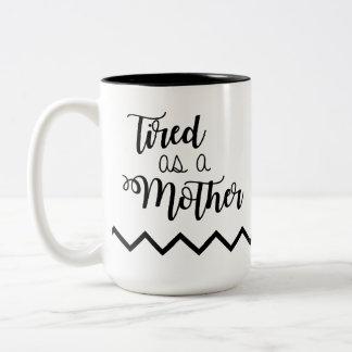 母コーヒー・マグとして疲れた ツートーンマグカップ