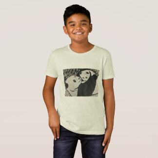 母パンダ-彼女の幼いこどもを持つパンダくま- Tシャツ