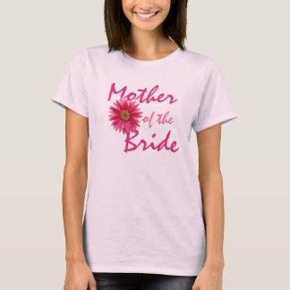 母ピンクのガーベラのデイジー Tシャツ