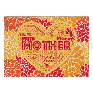 母ブランクNotecardsのハート カード