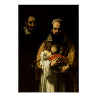 母乳で育てている髭がある女性1631年 ポスター