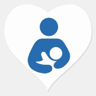 母乳で育てることは愛です ハートシール