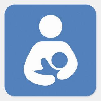 母乳で育てる記号のステッカー スクエアシール