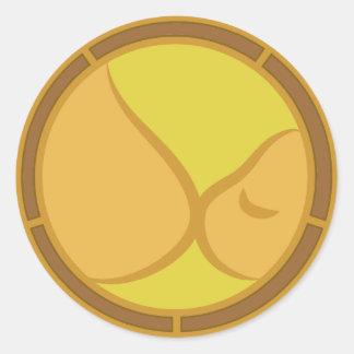 母乳で育てる記号 ラウンドシール