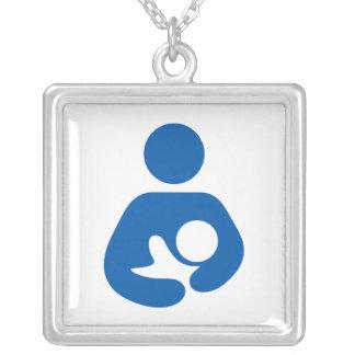 母乳で育てる/看護アイコン シルバープレートネックレス
