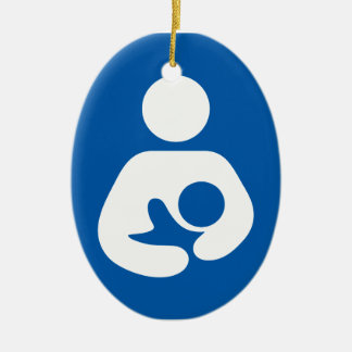 母乳で育てる/看護アイコン セラミックオーナメント