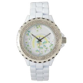 母性愛の青の鳥 腕時計