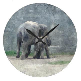 母性愛象の時計 ラージ壁時計