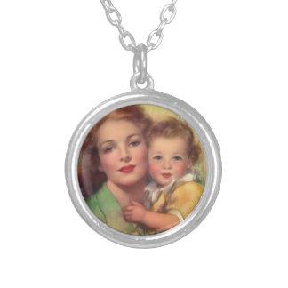 母性愛-ネックレス シルバープレートネックレス