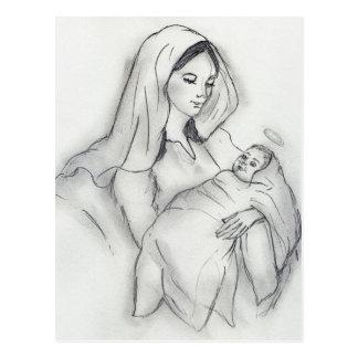 母性愛 ポストカード