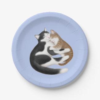 母親らしい愛猫の紙皿 紙皿 小