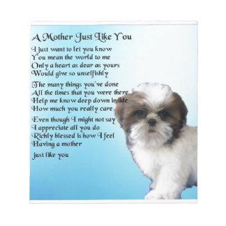 母詩-シーズー(犬)のTzuのデザイン ノートパッド