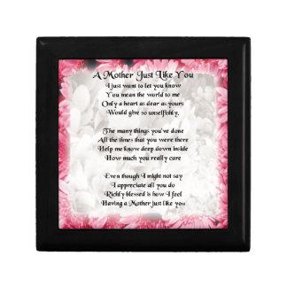 母詩-ピンクの花柄 ギフトボックス