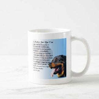 母詩-ロットワイラーのデザイン コーヒーマグカップ