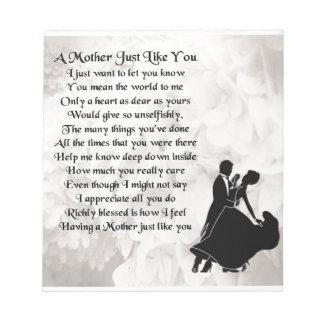 母詩-社交ダンスのダンサーのデザイン ノートパッド