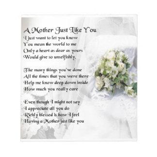 母詩-結婚式の花束のデザイン ノートパッド