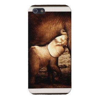 母象及び看護の子牛の携帯電話の箱 iPhone 5 COVER