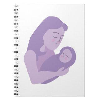 母赤ん坊 ノートブック