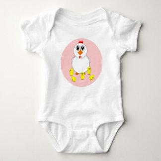 母雌鶏および赤ん坊の鶏の乳児のクリーパー ベビーボディスーツ