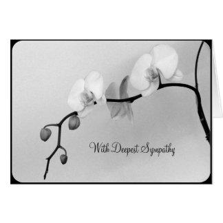 母-悔やみや弔慰カードの死のための白い蘭 カード