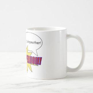 母、義母、supermomのマグ コーヒーマグカップ