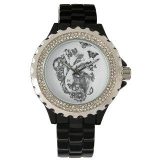 毎分、花のハート 腕時計