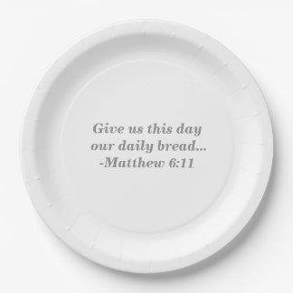 毎日のパンの紙皿 ペーパープレート