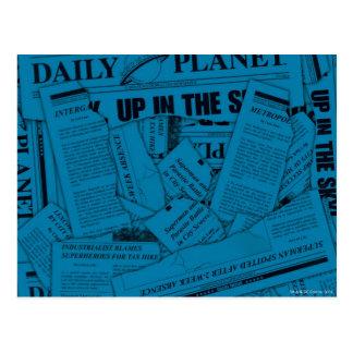 毎日の惑星パターン-青 ポストカード