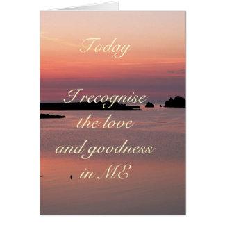 毎日の断言: 愛および長所 カード