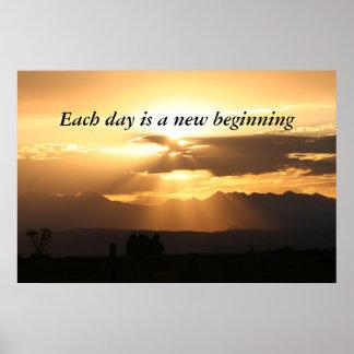 毎日は新しい始めです ポスター