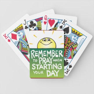 毎日を祈ることを覚えて下さい バイスクルトランプ