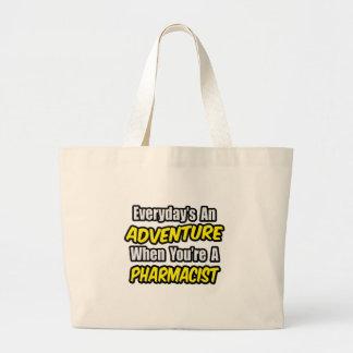 毎日冒険の…薬剤師 ラージトートバッグ