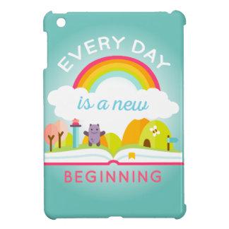 毎日新しい始めのかわいい虹はです iPad MINIケース