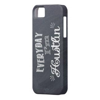 毎日私はHustlinの黒板のiphoneの場合です iPhone SE/5/5s ケース